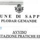 COMUNE DI SAPPADA: AVVISO PRESENTAZIONE PRATICHE EDILIZIE